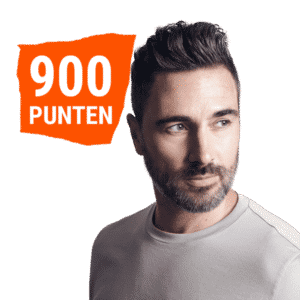 900 punten men's cut blowdry + towelservice